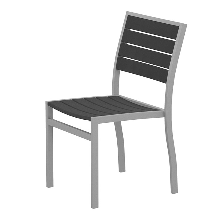 Outdoor Euro Dining Side Chair Polywood Modern Aluminum