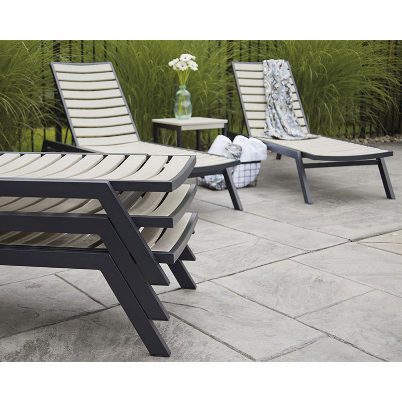 Polywood Euro Aluminum Frame Chaise Lounge Vermont Woods