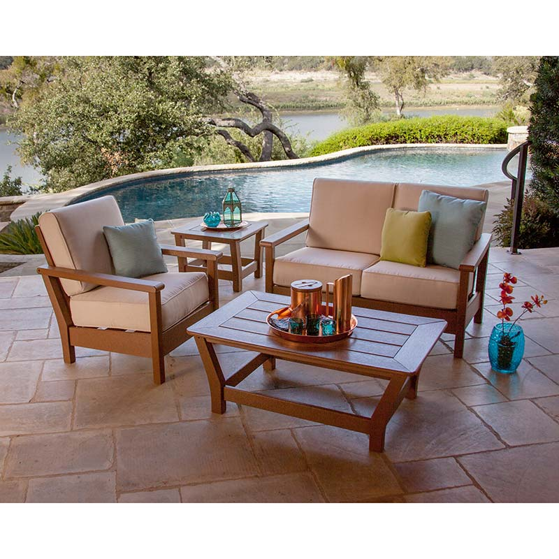 harbour deep seating settee polywood outdoor furniture recycled