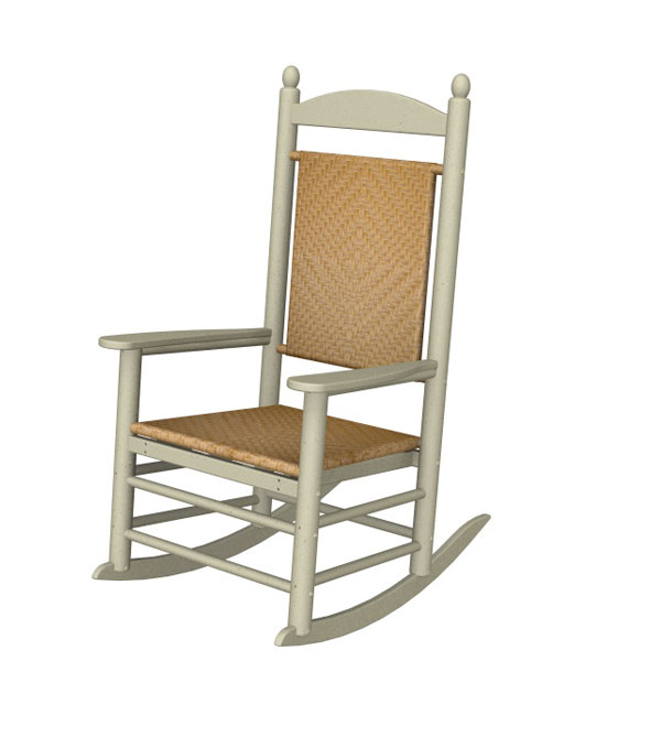 Polywood Jefferson Outdoor Rocker Plastic Wicker Seat Back American