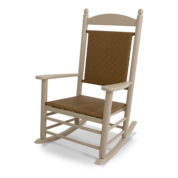 Polywood Jefferson Outdoor Rocker Plastic Wicker Seat