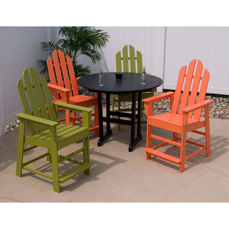 Polywood Long Island Outdoor Counter Height Chair Maintenance Free Resin Usa Made