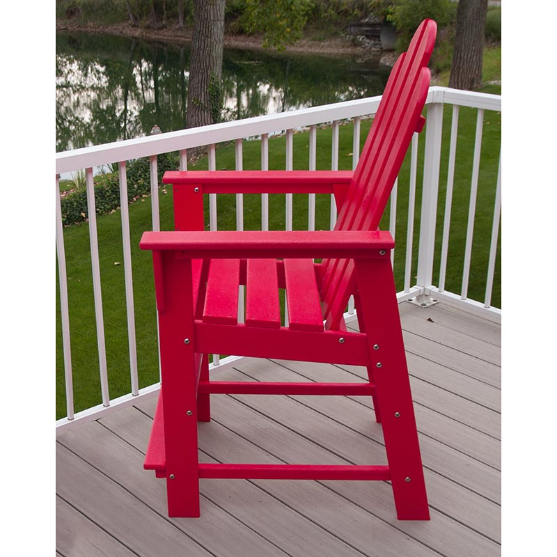 Patio Furniture In Long Island: Polywood Long Island Outdoor Counter Height Chair