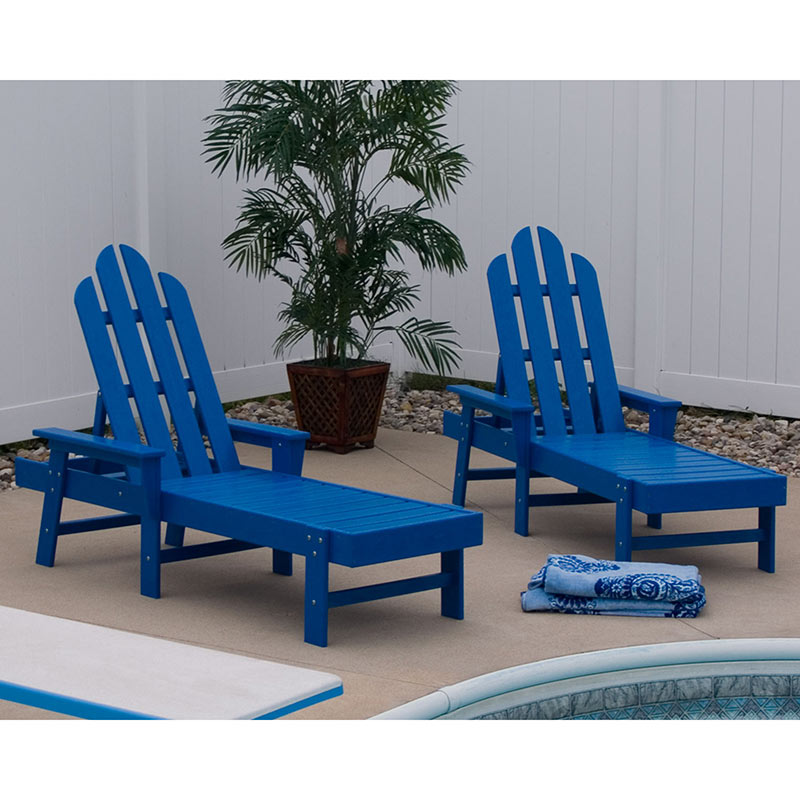Long Island Adirondack Chaise Lounge Chair By Polywood
