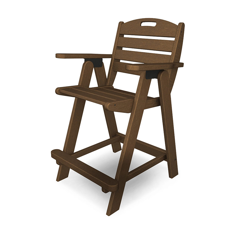 Outdoor Counter Height Chair Polywood Nautical Collection