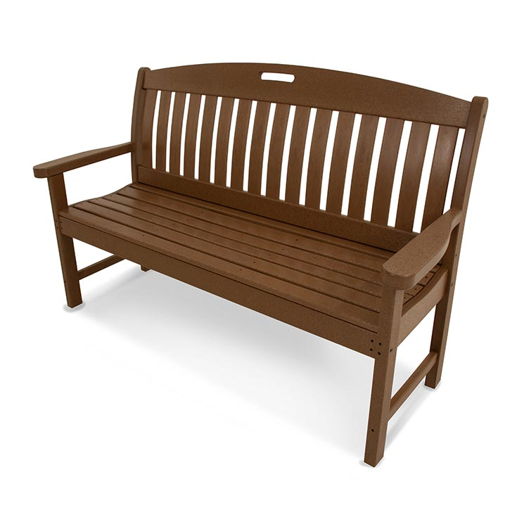Outdoor Plastic Garden Bench Polywood Maintenance Free Resin Benches
