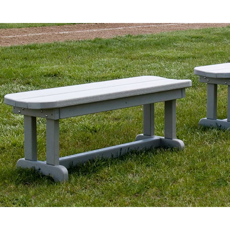 Small Outdoor Backless Park Bench Polywood Commercial