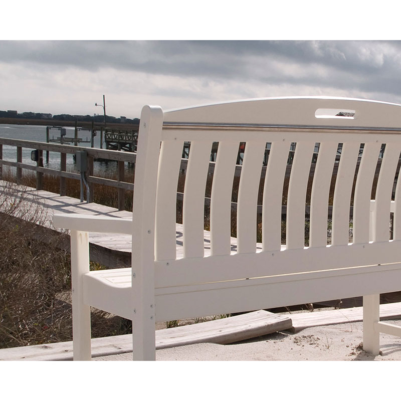 48 Solid Resin Outdoor Park Bench Weatherproof Recycled