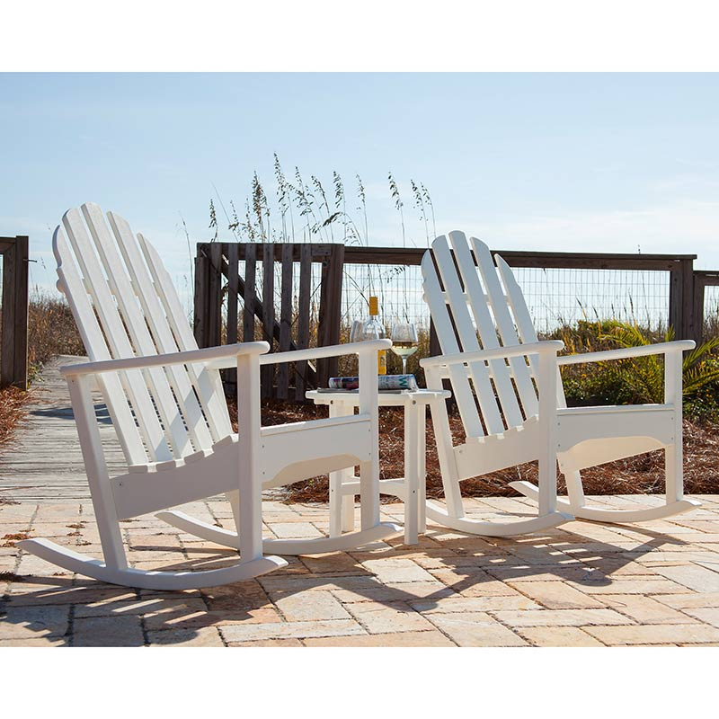 Adirondack Rocking Chair  Polywood Recycled Plastic Outdoor Rockers ...