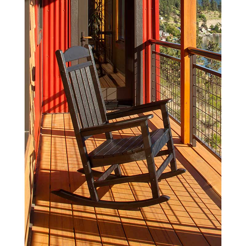Recycled Plastic Outdoor Rocking Chair Polywood