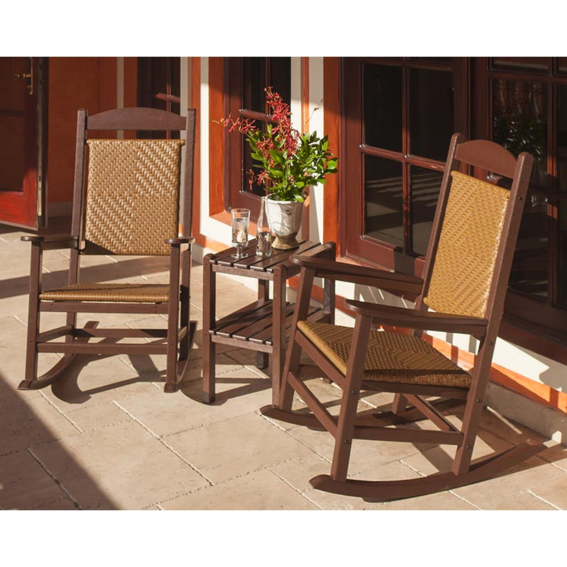 Presidential Woven Wicker Outdoor Rocking Chair Polywood