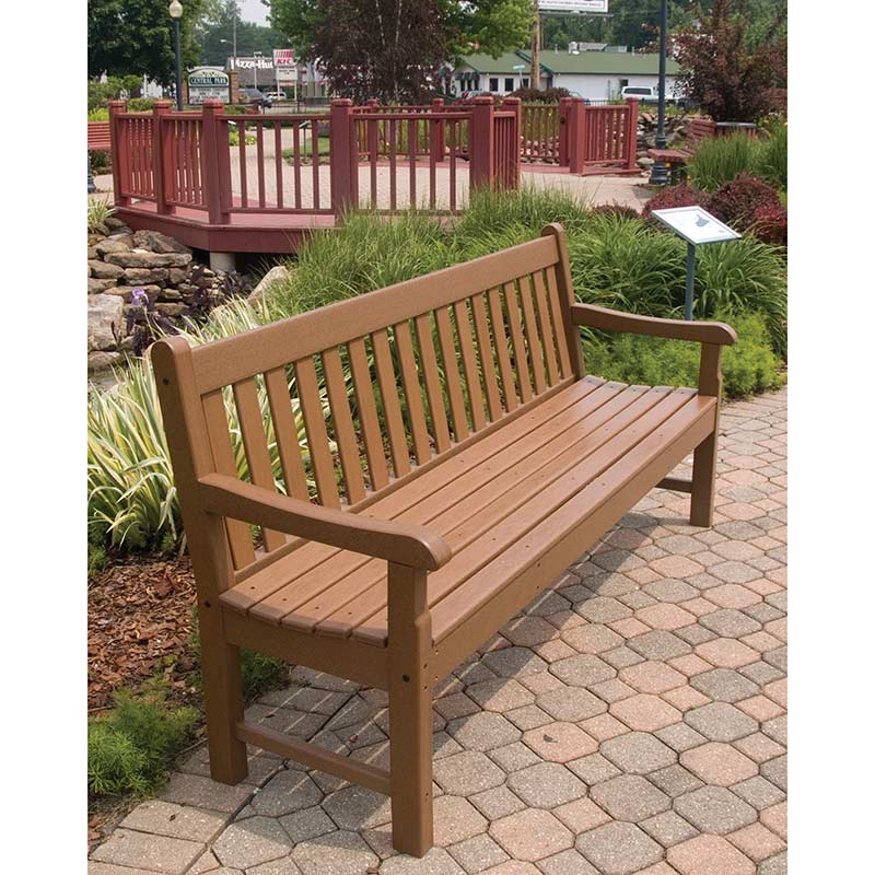 Large Polywood Rockford 72 Inch Bench Commercial Quality Outdoor Park Benches