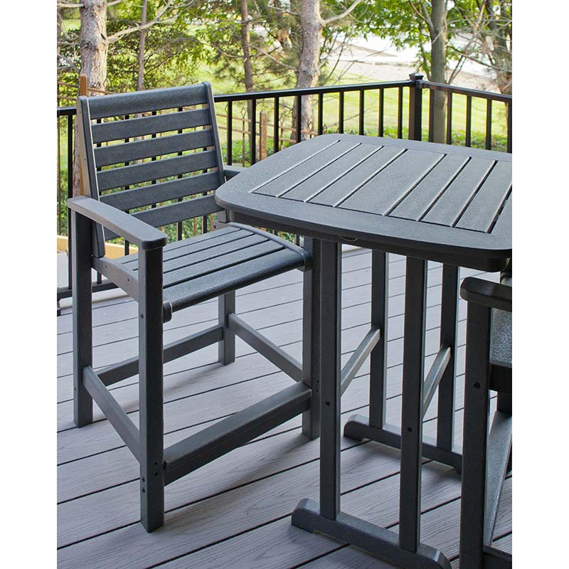 Outdoor Counter Height Dining Chair Polywood Signature Collection