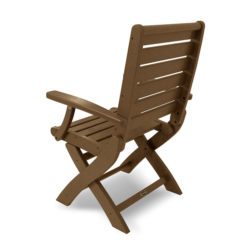 Outdoor Folding Dining Chair Weatherproof Polywood Recycled Plastic