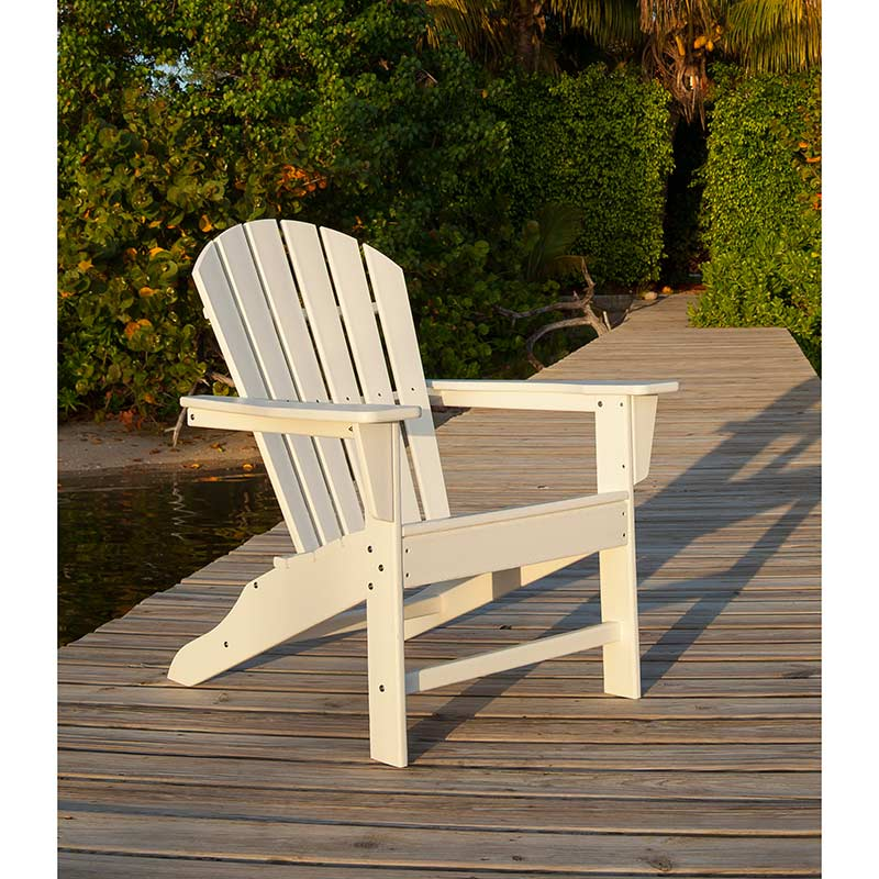 Polywood South Beach Adirondack Chairs Outdoor Patio
