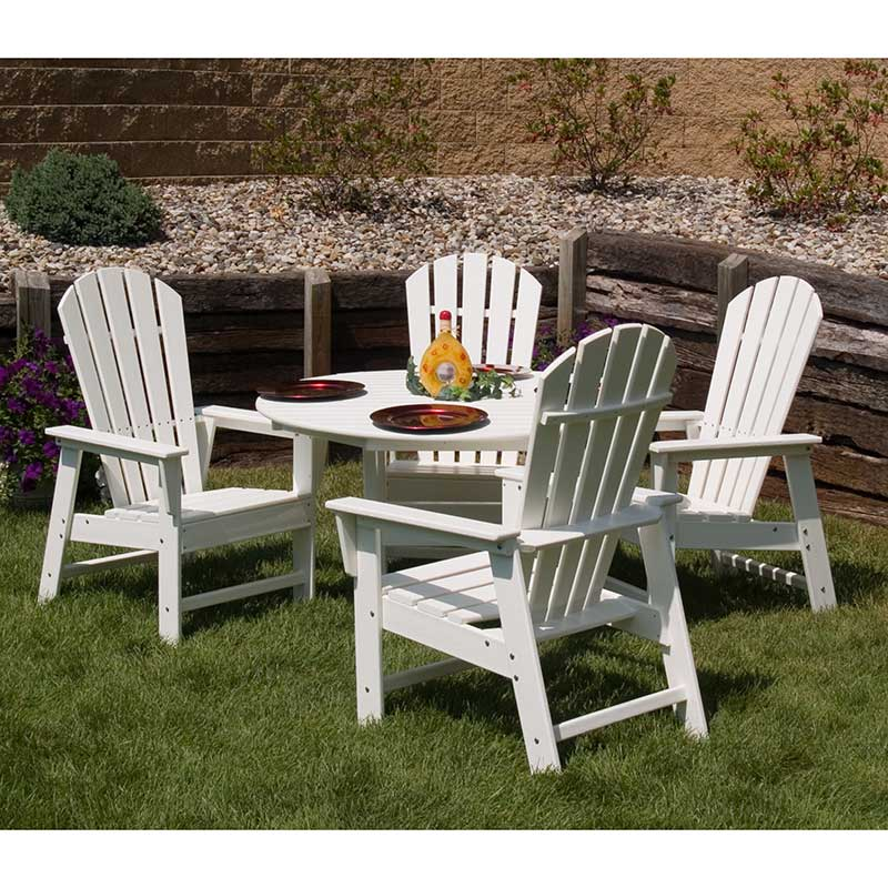 Polywood south beach adirondack dining chairs vermont