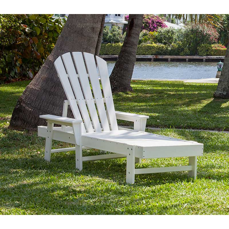 Recycled Plastic Adirondack Chaise Lounge Chair - Vermont ...