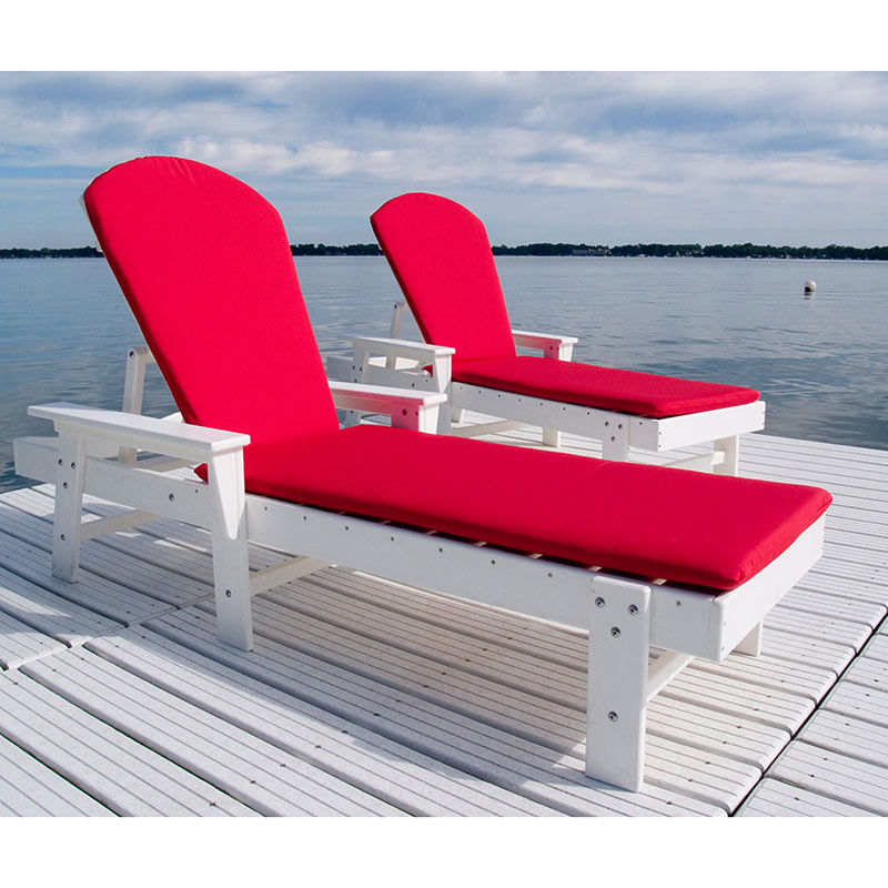 Polywood recycled plastic adirondack style chaise lounge for Beach lounge chaise