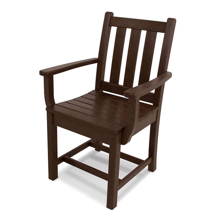 Patio Dining Arm Chair Polywood Recycled Solid Plastic Lumber