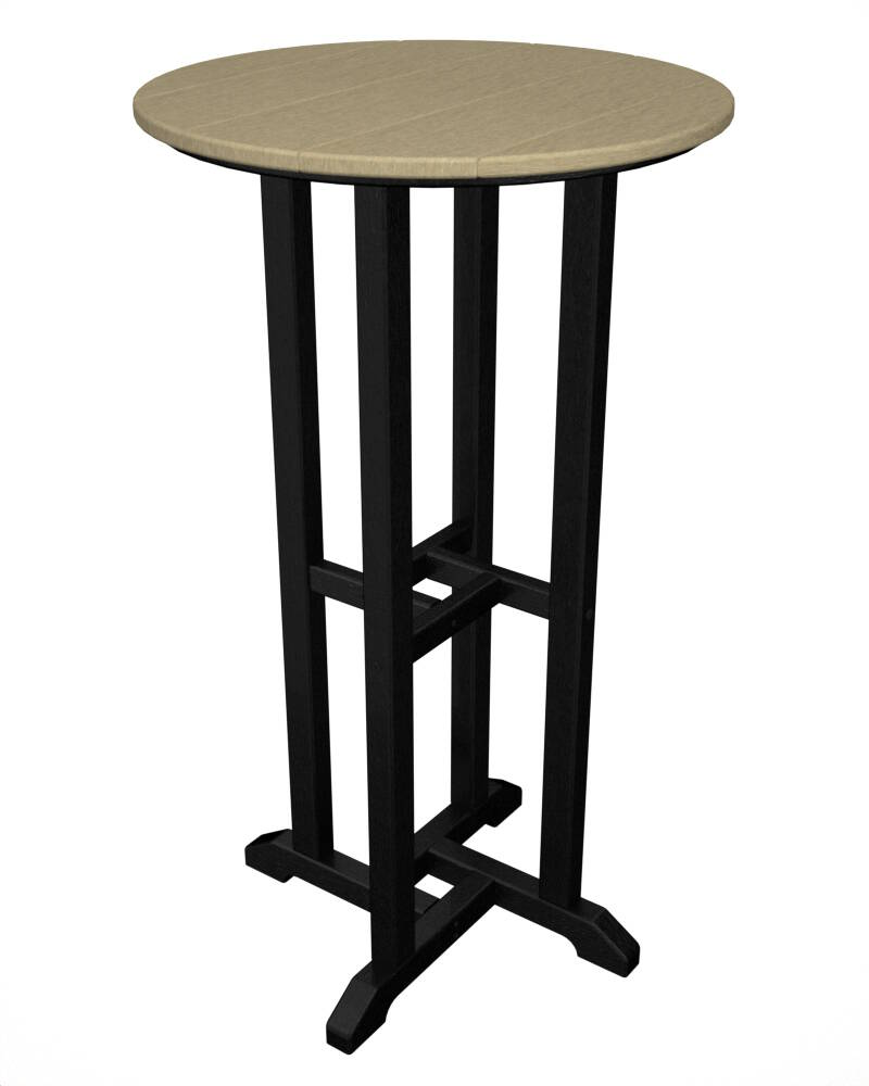 polywood outdoor bistro bar height table durable patio