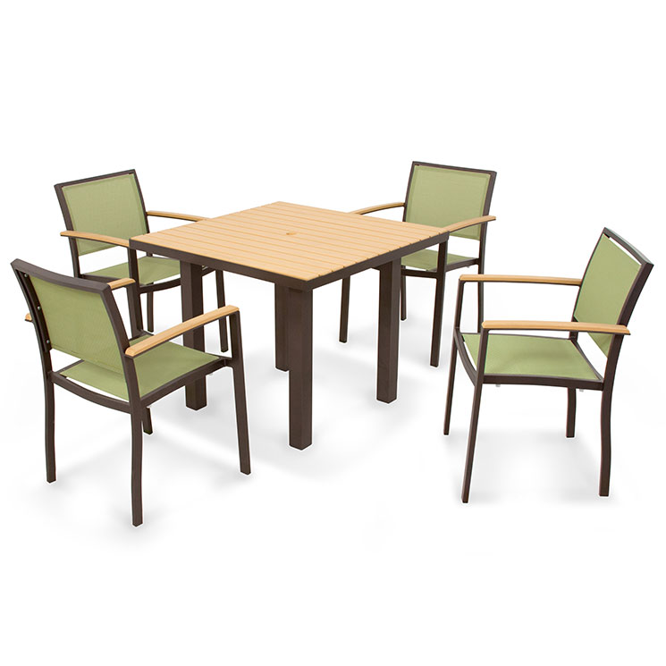 POLYWOOD Bayline Collection 5 Piece Dining Set All