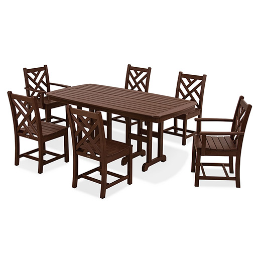 Polywood All Weather 7 Piece Patio Dining Set Premium