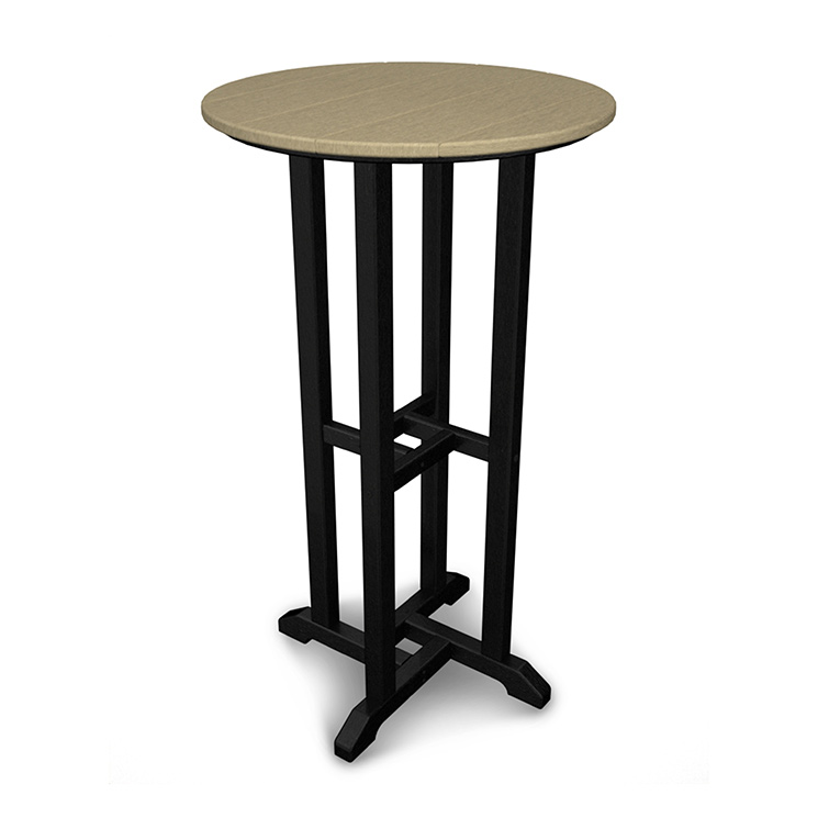 Polywood outdoor bistro bar height table durable patio pool contempo bar height bistro table watchthetrailerfo