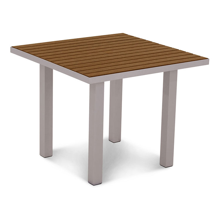 Polywood Outdoor Euro Square Dining Table Patio Furniture Made In America