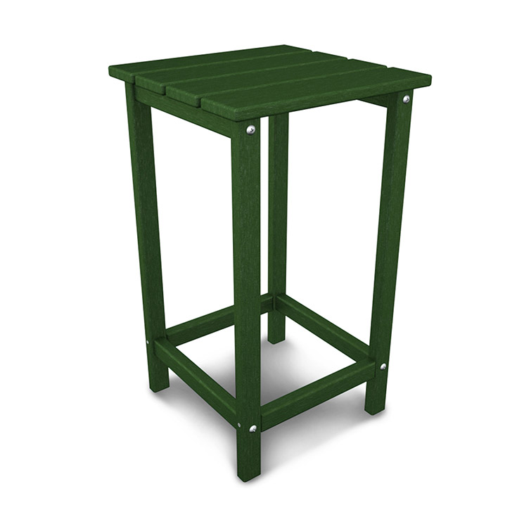 Polywood Long Island Counter Height Square End Table Durable Patio