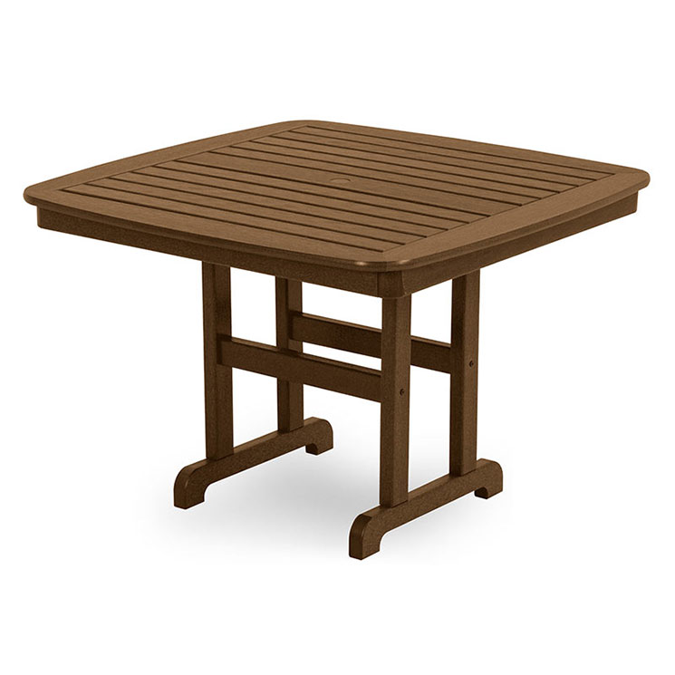Outdoor Large Square Dining Table Polywood Maintenance Free Recycled