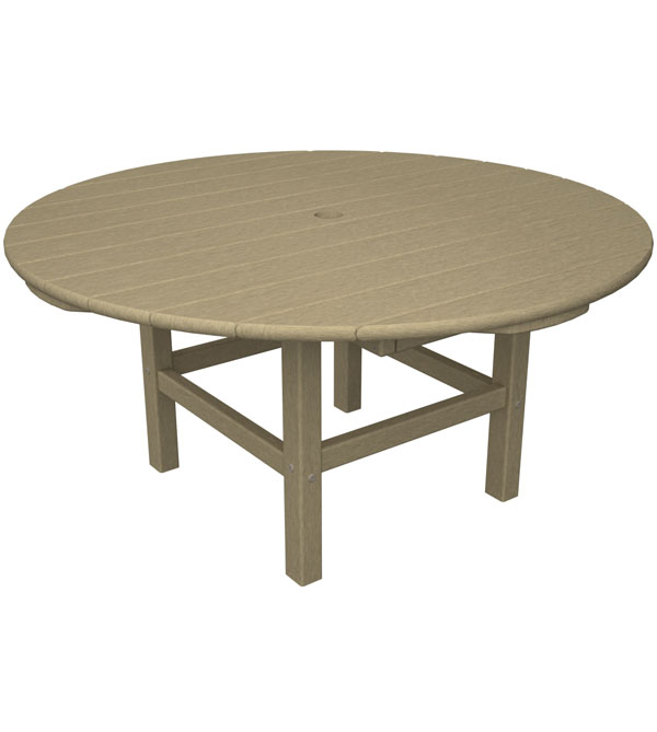polywood large round outdoor coffee table 12 colors