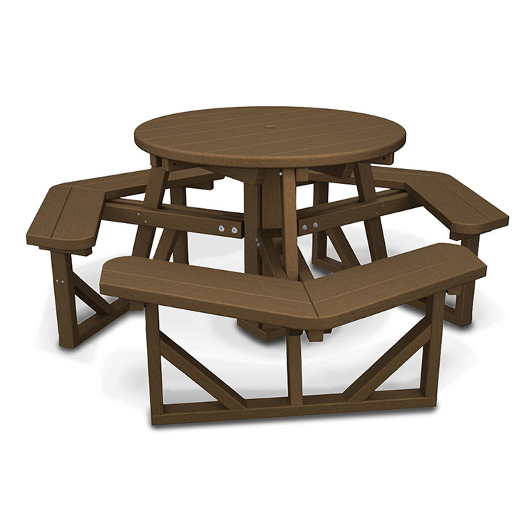 Park Round Top Picnic Table With Hexogon Seating Best