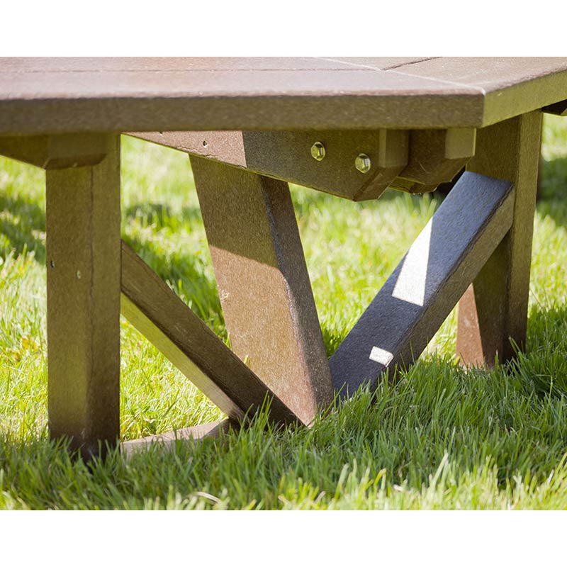 Large 53 Inch Octagon Picnic Table Vermont Woods Studios
