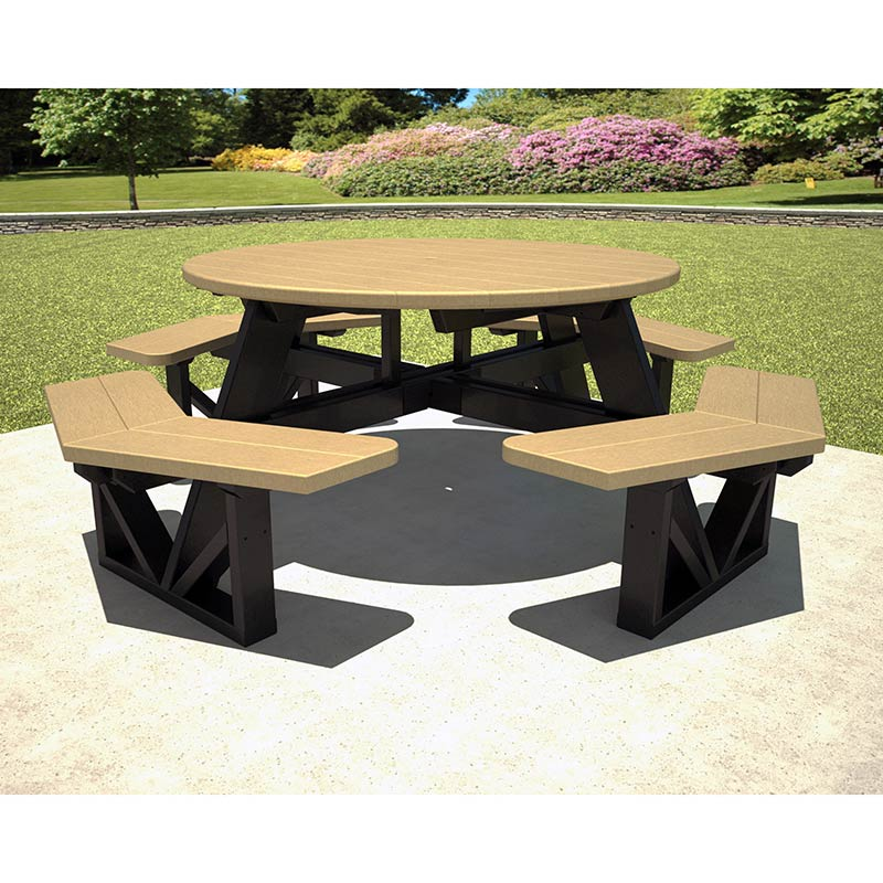 Park 53in Octagon Picnic Table