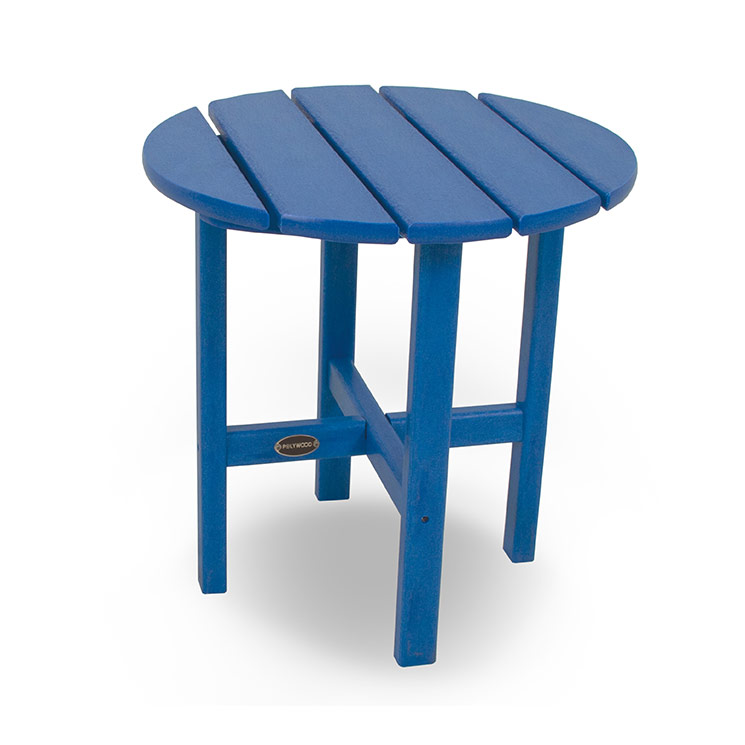 round side table weatherproof recycled plastic outdoor furniture