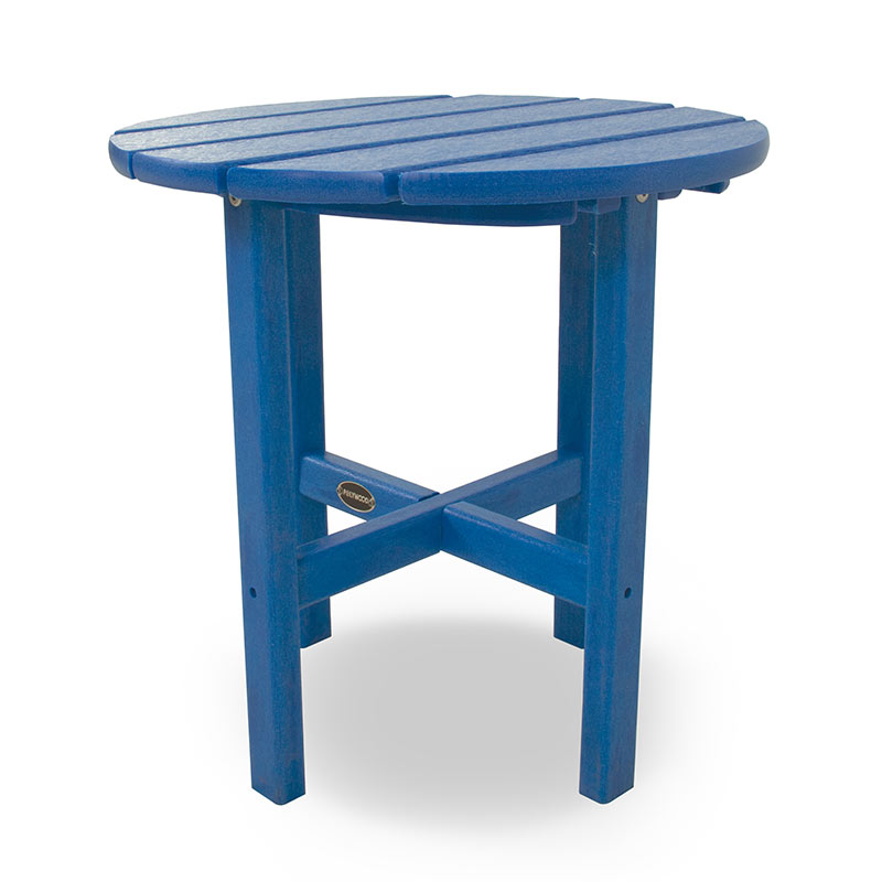 polywood outdoor 18 inch round side table weatherproof