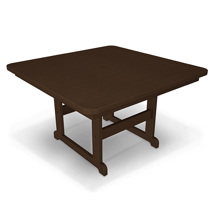 48 Square Dining Room Table: Durable All Weather Solid Recycled Plastic Furniture