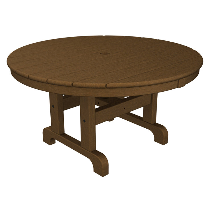 Polywood Inch Outdoor Round Coffee Conversation Table Beach - Polywood coffee table