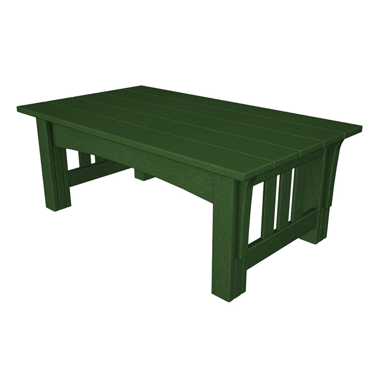 Outdoor Mission Style Coffee Table | Polywood Recycled Plastic Tables |  Free Shipping
