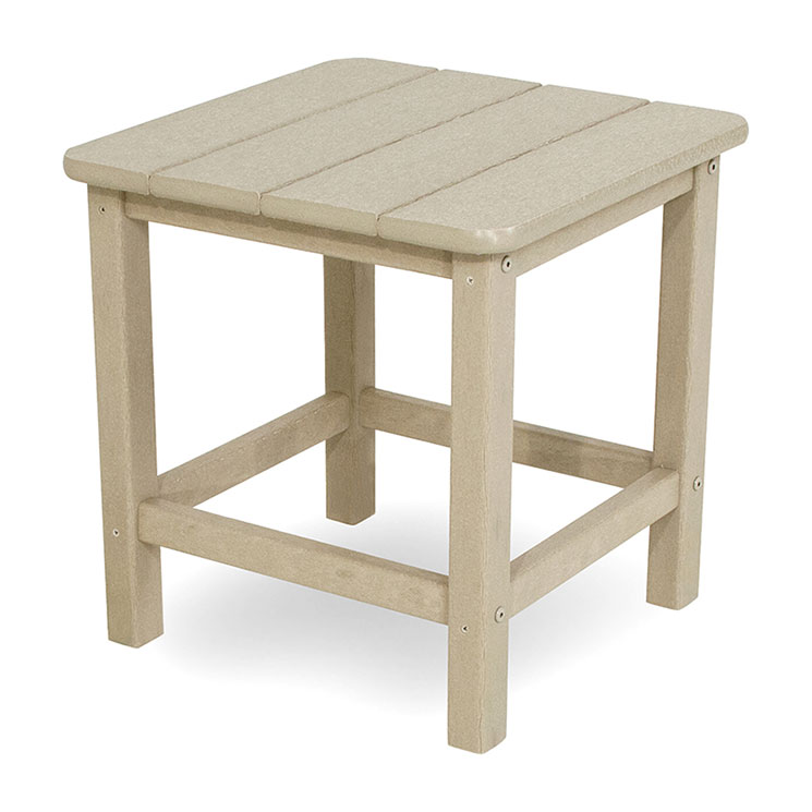 small outdoor side table Outdoor Small Square Side or End Table | Polywood Seashell  small outdoor side table