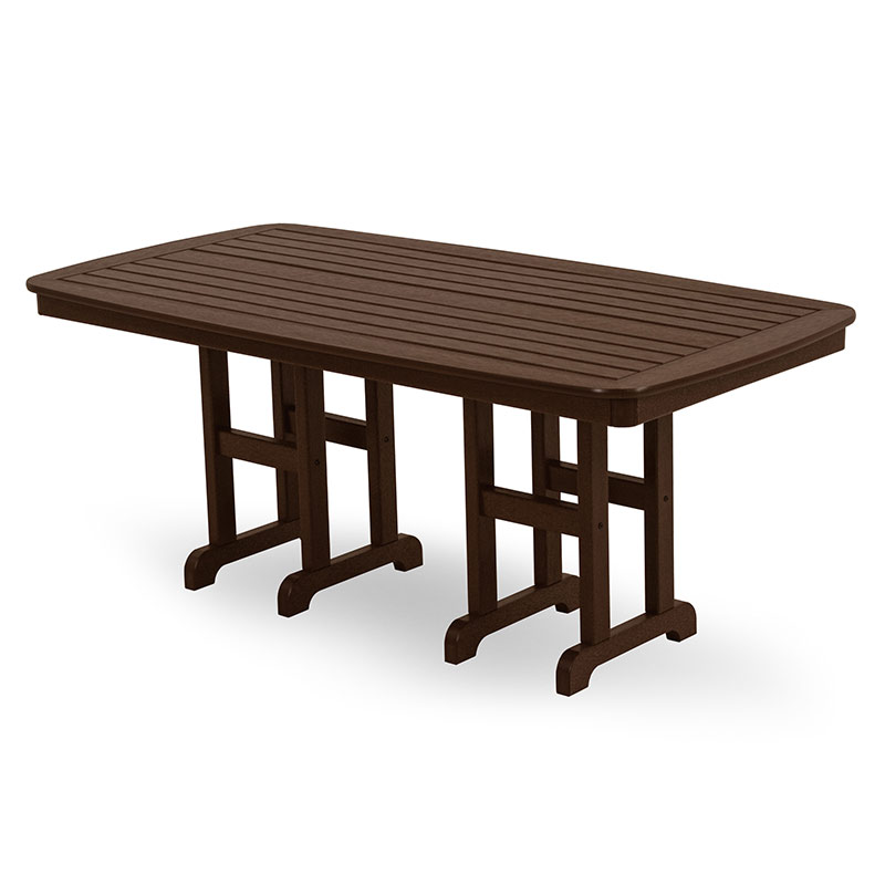 Polywood traditional garden 7 piece chairs table dining set for Traditional garden furniture