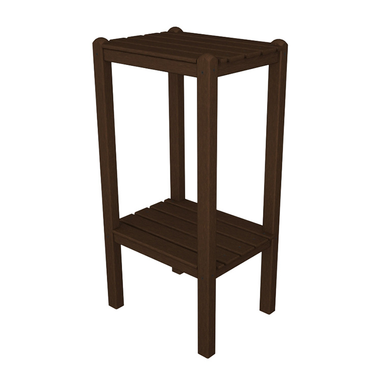 Polywood bar height side end table outdoor all weather for Outdoor furniture end tables