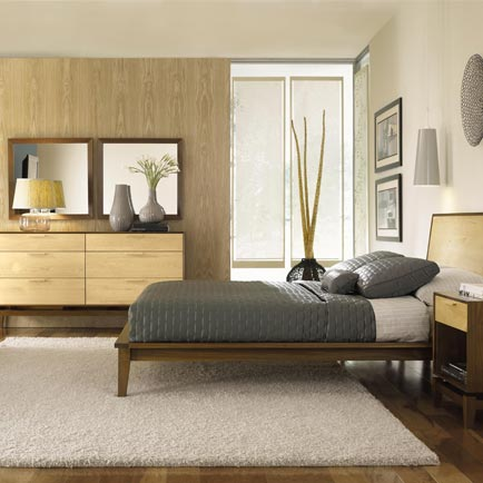 Soho Walnut-Maple Bedroom Set