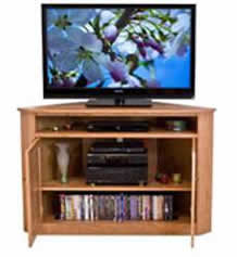 Flat Screen Corner Entertainment Console