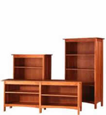 Modern Shaker Custom Open Bookcases