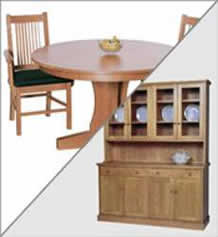 New England Shaker Round Dining Set
