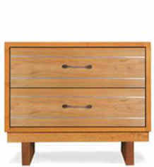 Contemporary Cable 2-Drawer Chest