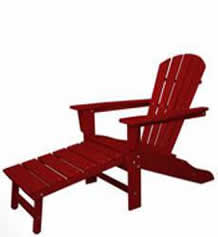 South Beach Ultimate Adirondack with Hideaway Ottoman