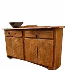 Rustic Barnwood Sideboard with Ceramic Sink