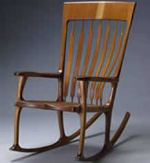 Custom Hardwood Rocking Chair